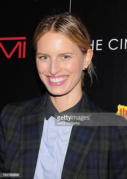 Karolina Kurkova attends the Weinstein Company Cinema Society Screening of 'This Must Be The Place' at the Tribeca Grand Hotel on October 25 2012 in...