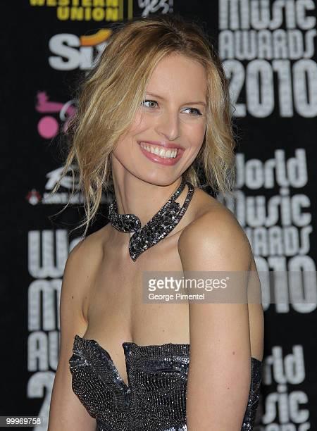 Karolina Kurkova attends the World Music Awards 2010 at the Sporting Club on May 18, 2010 in Monte Carlo, Monaco.