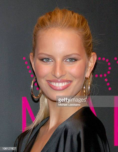 Karolina Kurkova during Victoria's Secret Introduces Very Sexy Makeup at Victoria's Secret Flagship Store Herald Square in New York City New York...