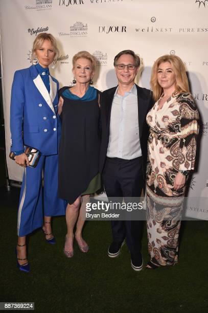 Karolina Kurkova Elaine Wynn Jason Binn and Rachel Paletsky Ash attends DuJour's Jason Binn And WellNEST Celebrate Miami Beach's Art Basel KickOff at...