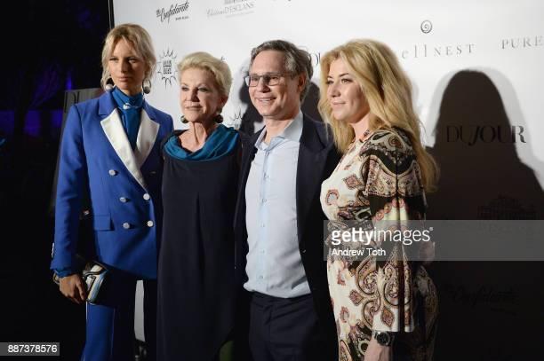 Karolina Kurkova Elaine Wynn Jason Binn and Rachel Paletsky Ash attend DuJour's Jason Binn And WellNEST Celebrate Miami Beach's Art Basel KickOff at...