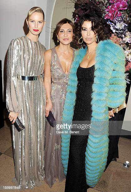 Karolina Kurkova Ella Krasner and Isis Monteverde attend the Place For Peace dinner cohosted by Ella Krasner and Forest Whitaker to support the Peace...
