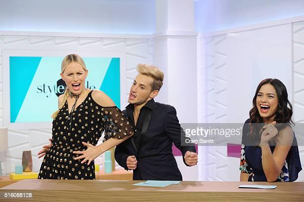 Karolina Kurkova, Frankie Grande and Rachel Smith appear on Amazon's Style Code Live on March 16, 2016 in New York City.