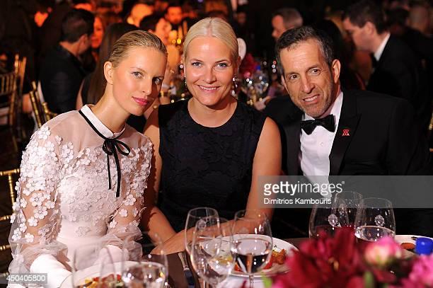 Karolina Kurkova HRH Crown Princess MetteMarit of Norway and Designer Kenneth Cole attend the amfAR Inspiration Gala New York 2014 at The Plaza Hotel...