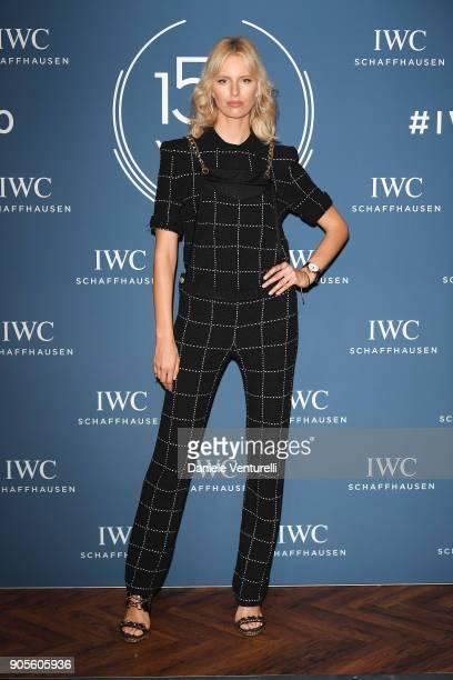 Karolina Kurkova is seen at IWC Schaffhausen at SIHH 2018 on January 16 2018 in Geneva Switzerland