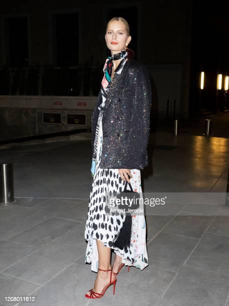 Karolina kurkova is seen during Milan Fashion Week Fall/Winter 2020-2021 on February 22, 2020 in Milan, Italy.