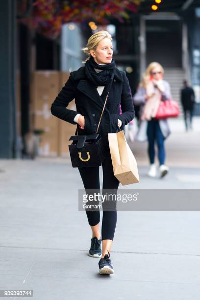 Karolina Kurkova is seen in the Meatpacking District on March 28 2018 in New York City