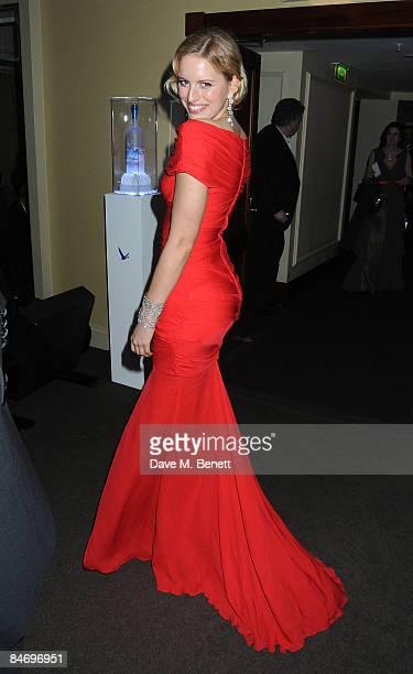 Karolina Kurkova poses at the Soho House Grey Goose After Party at the Grosvenor House Hotel on February 8, 2009 in London, England.