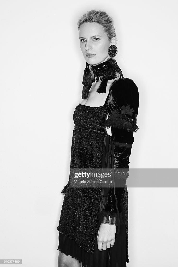 Karolina Kurkova poses for a portrait during amfAR Milano 2016 at La Permanente on September 24, 2016 in Milan, Italy.