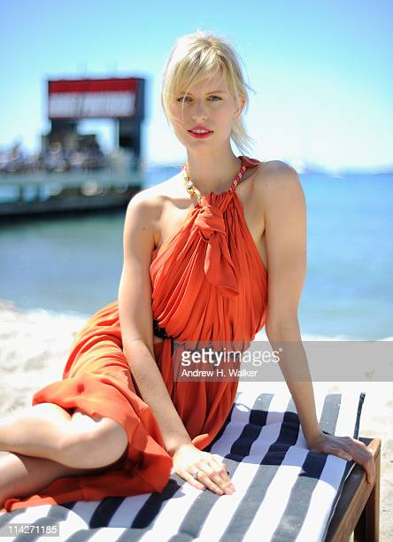 Karolina Kurkova poses for a portrait during her visit to the Variety Studio at the Stella Artois Lounge during the 64th Annual Cannes Film Festival...