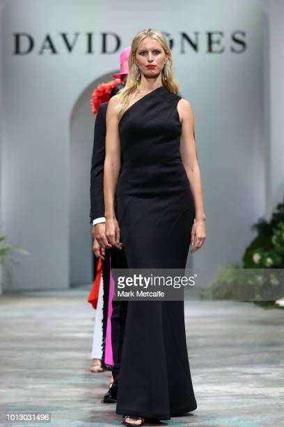 Karolina Kurkova showcases designs by Bianca Spender during the media rehearsal ahead of the David Jones Spring Summer 18 Collections Launch at Fox...