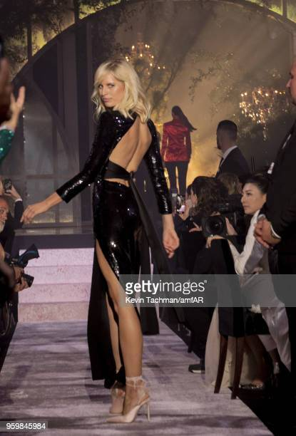 Karolina Kurkova walks the runway during the amfAR Gala Cannes 2018 fashion show at Hotel du CapEdenRoc on May 17 2018 in Cap d'Antibes France