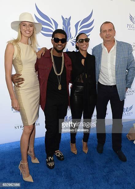 Karolina KurkovaUsherGrace Miguel and Josef Kurka attends The Inaugural $12 Million Pegasus World Cup Invitational The World's Richest Thoroughbred...