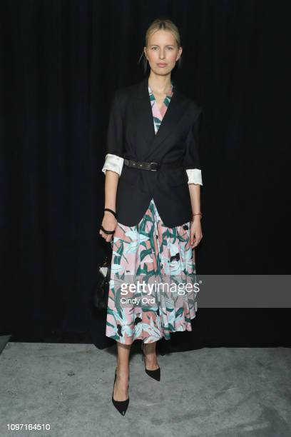 Karolina Kurvova attends the Tory Burch Fall Winter 2019 Fashion Show at Pier 17 on February 10 2019 in New York City
