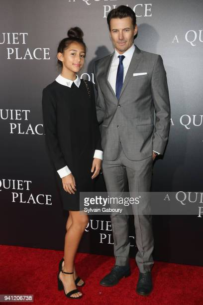 Karolina Lundqvist and Alex Lundqvist attend New York Premiere of A Quiet Place on April 2 2018 in New York City