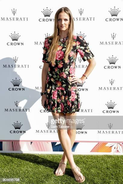 Karolina Pliskova arrives ahead of the 2018 Crown IMG Tennis Player at Crown Palladium on January 14 2018 in Melbourne Australia