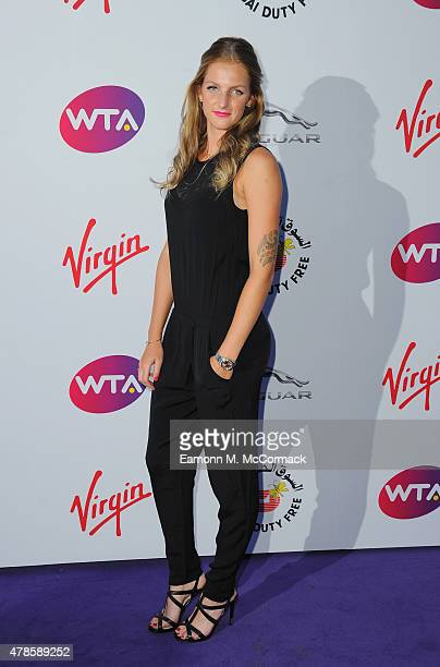 Karolina Pliskova attends the annual WTA PreWimbledon Party presented by Dubai Duty Free at The Roof Gardens Kensington on June 25 2015 in London...