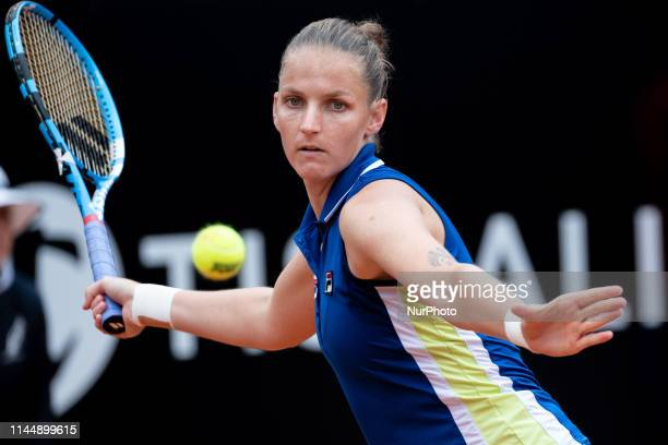 Karolina Pliskova in action in her Women Final match against Johanna Konta during Internazionali BNL D'Italia Italian Open at the Foro Italico Rome...