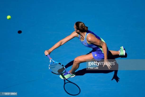Karolina Pliskova of Czech Republic in action during her Women's Singles third round match against Anastasia Pavlyuchenkova of Russia on day six of...