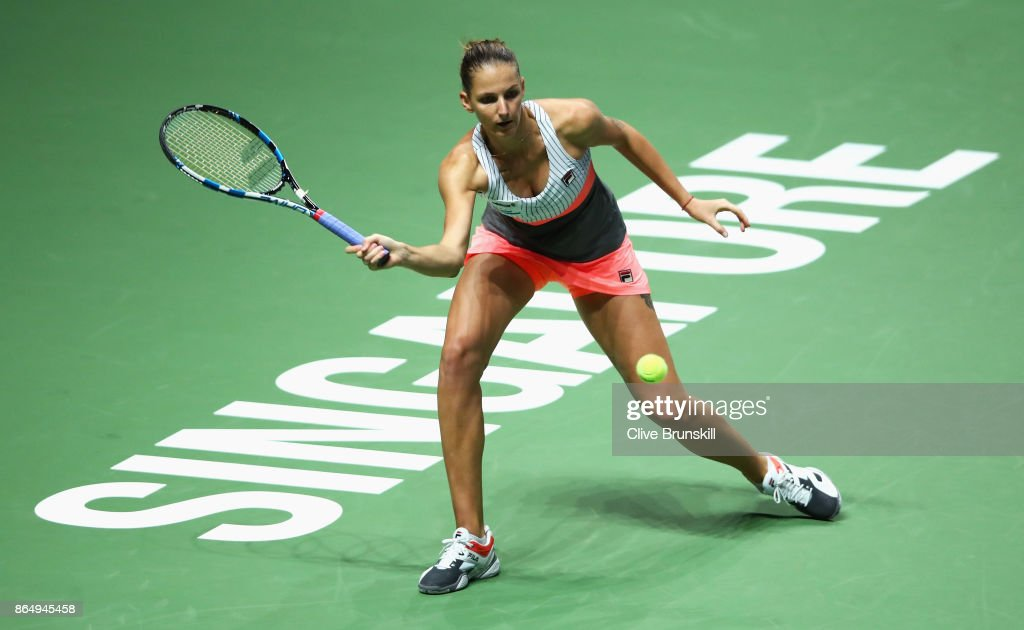BNP Paribas WTA Finals Singapore presented by SC Global - Day 1 : ニュース写真