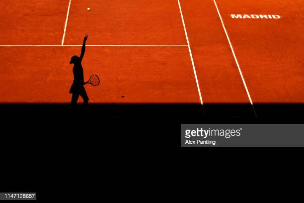 Karolina Pliskova of the Czech Republic during her match against Davana Yastremska during day two of the Mutua Madrid Open at La Caja Magica on May...