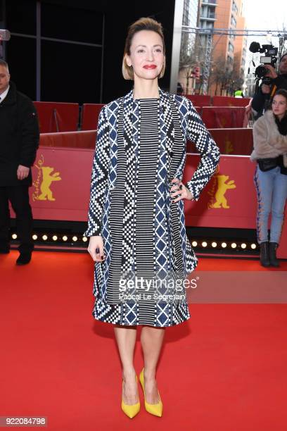 Karolina Porcari attends the 'My Brother's Name is Robert and He is an Idiot' premiere during the 68th Berlinale International Film Festival Berlin...