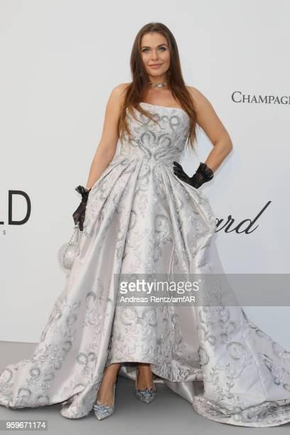 Karolina ZubkovaMattes arrives at the amfAR Gala Cannes 2018 at Hotel du CapEdenRoc on May 17 2018 in Cap d'Antibes France