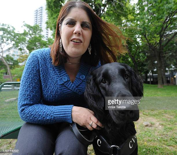 Karoline Bourdeau who is blind in one eye and has very limited sight in the other just got a trained guide dog through Lions called Frankie She's had...