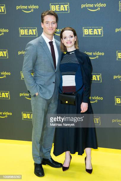 Karoline Herfurth and Alexander Fehling attend the premiere of the Amazon Original Series 'BEAT' at Kraftwerk Mitte on November 7 2018 in Berlin...