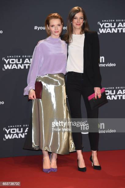 Karoline Herfurth and Alexandra Maria Lara attend the premiere of the Amazon series 'You are wanted' at CineStar on March 15 2017 in Berlin Germany