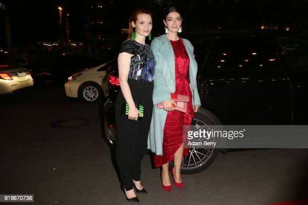 Karoline Herfurth and Anna Bederke attend the Medienboard BerlinBrandenburg Arrivals during the 68th Berlinale International Film Festival Berlin at...