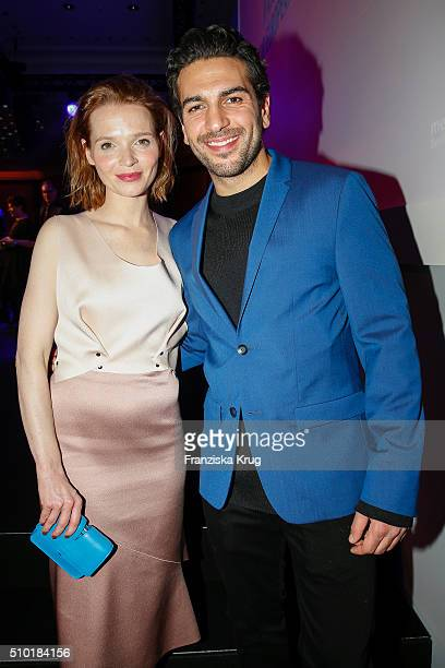Karoline Herfurth and Elyas M Barek attend the Medienboard BerlinBrandenburg Reception on February 13 2016