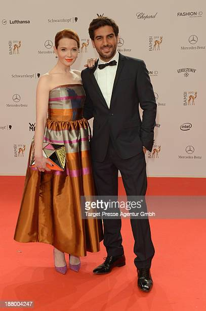 Karoline Herfurth and Elyas M'Barek attend the Bambi Awards 2013 at Stage Theater on November 14 2013 in Berlin Germany