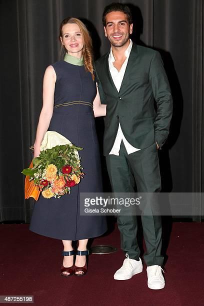 Karoline Herfurth and Elyas M'Barek during the world premiere of 'Fack ju Goehte 2' at Mathaeser Kino on September 7 2015 in Munich Germany