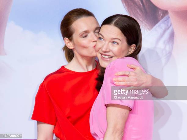 Karoline Herfurth and Hannah Herzsprung attend the premiere of the film Sweethearts at Zoo Palast on February 04 2019 in Berlin Germany