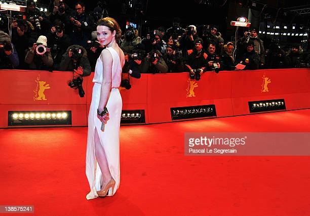 Karoline Herfurth attends the Les Adieux De La Reine Premiere during day one of the 62nd Berlin International Film Festival at the Berlinale Palast...