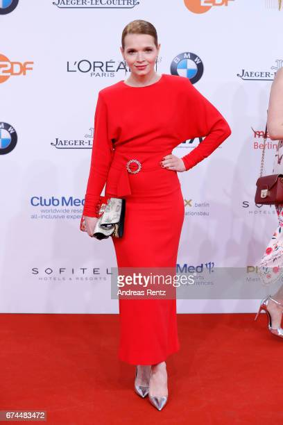 Karoline Herfurth attends the Lola German Film Award red carpet at Messe Berlin on April 28 2017 in Berlin Germany