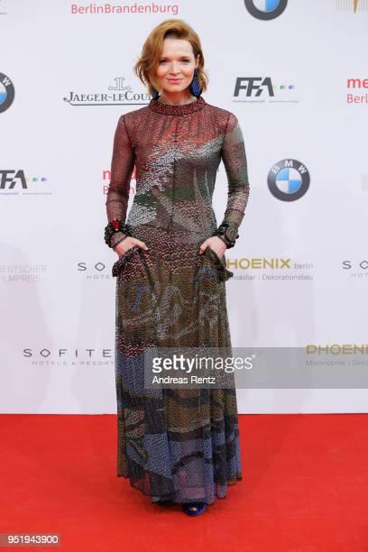 Karoline Herfurth attends the Lola German Film Award red carpet at Messe Berlin on April 27 2018 in Berlin Germany