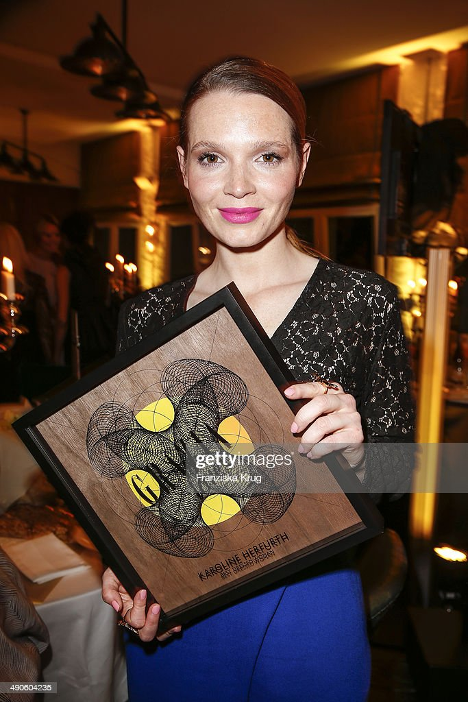Karoline Herfurth attends the Pandora At Grazia Best Dressed Award at Soho House on May 14, 2014 in Berlin, Germany.