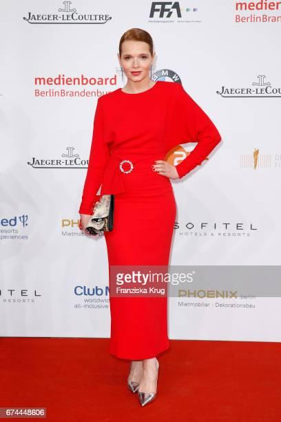 Karoline Herfurth during the Lola - German Film Award red carpet arrivals at Messe Berlin on April 28, 2017 in Berlin, Germany.