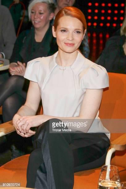 Karoline Herfurth during the TV Talk '3 nach 9' on January 26 2018 in Hamburg Germany