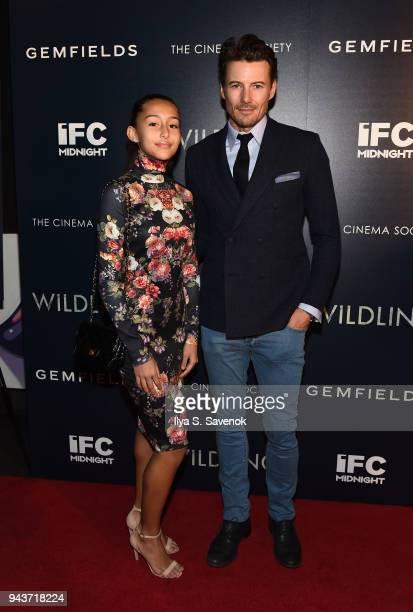 Karoline Lundqvist and Alex Lundqvist attend 'Wildling' New York Screening at iPic Theater on April 8 2018 in New York City
