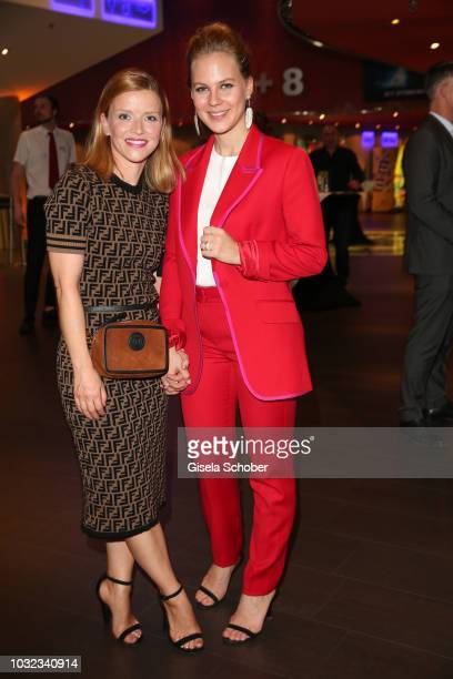 Karoline Schuch and Alicia von Rittberg during the premiere of the film 'Ballon' at Mathaeser Filmpalast on September 12, 2018 in Munich, Germany.
