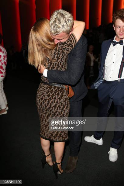 Karoline Schuch and Friedrich Muecke during the premiere of the film 'Ballon' at Mathaeser Filmpalast on September 12 2018 in Munich Germany