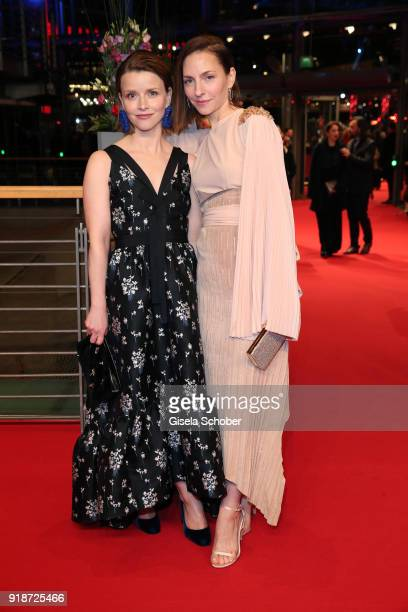 Karoline Schuch and Katharina Schuettler attend the Opening Ceremony 'Isle of Dogs' premiere during the 68th Berlinale International Film Festival...