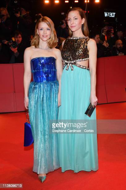 Karoline Schuch and Katharina Schuettler attend the The Kindness Of Strangers premiere during the 69th Berlinale International Film Festival Berlin...