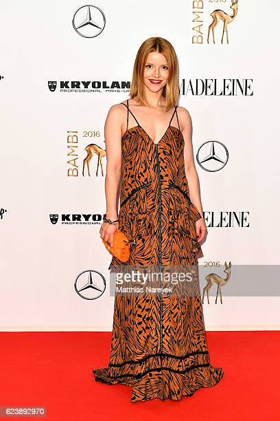Karoline Schuch arrives at the Bambi Awards 2016 at Stage Theater on November 17 2016 in Berlin Germany