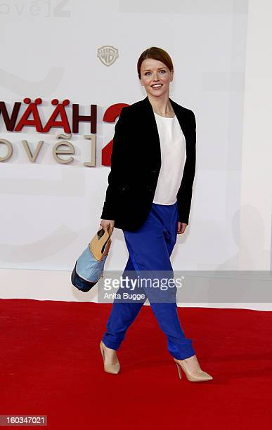 Karoline Schuch attends the 'Kokowaeaeh 2' Germany Premiere at Cinestar Potsdamer Platz on January 29 2013 in Berlin Germany