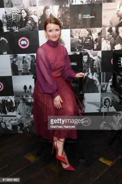 Karoline Schuch attends the Studio Babelsberg Night X Canada Goose on the occasion of the 68th Berlinale International Film Festival at Soho House on...