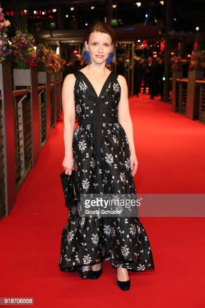 Karoline Schuch wearing ErdemxHM attend the Opening Ceremony 'Isle of Dogs' premiere during the 68th Berlinale International Film Festival Berlin at...